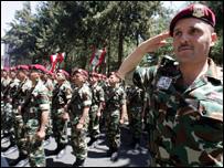 وحدة من القوات الخاصة السورية في قاعدة الرياق الجوية في البقاع