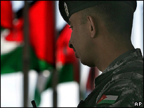 Policeman in central Amman