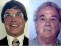 Alleged Chicago mobsters Joey 'The Clown' Lombardo, left, and Frank 'the German' Schweihs