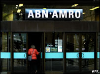 The Amsterdam headquarters of Dutch bank ABN Amro