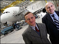 Airbus test pilots Jacques Rosay and Claude Lelaie; copyright Stuart McAlister, Surface to Air Pictures
