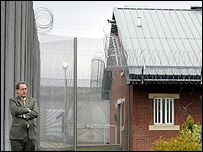 Andrew McLellan at Kilmarnock Prison to release his report