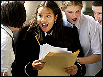 British pupils receive exam results