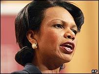 Condoleezza Rice, secretaria de Estado de EE.UU.