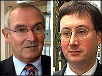 Senator Frank Walker (l) and Senator Stuart Syvret