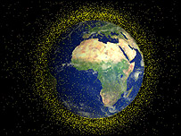 Artist's impression of space debris, ESA