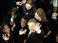 Tony Blair at Lilian BaylissTechnology School