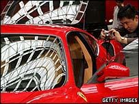 Ferrari on display in Shanghai