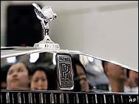 Rolls-Royce on display in Shanghai