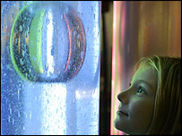 Girl at Science Museum in London