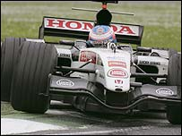 Jenson Button in action at Imola