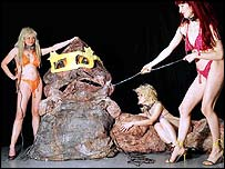 Lali Chetwynd's art based on Jabba the Hutt