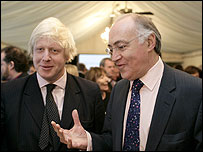 Boris Johnson and Michael Howard