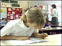 pupils taking test