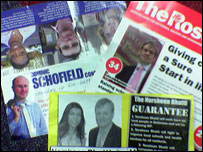 A spread of election literature