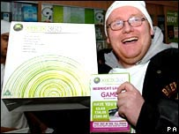 Kevin Sage with his new Xbox 360