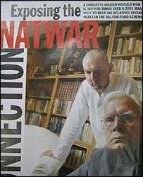 Natwar Singh with his son Jagat
