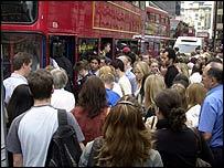 Bus queue during Tube strike