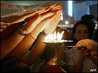 Hindu blessing in New Delhi
