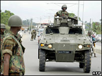 Nigerian troops in Yenagoa