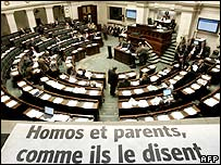 Belgian parliament votes on homosexual adoption