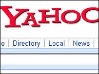 Screengrab of Yahoo homepage, Yahoo