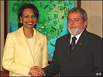 Condoleezza Rice y Lula