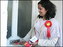 Yasmin Qureshi delivers leaflets in Brent East constituency