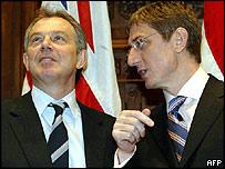Tony Blair and Ferenc Gyurcsany