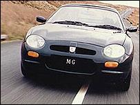 MGF sports car