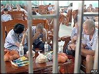 Prisoners in China's Fujian province