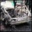 Взорванная машина на улице Махачкалы