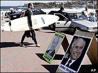 Surfing to the vote at Bondi