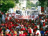 Chavez supporters demonstrate