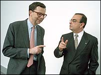 Louis Schweitzer and Carlos Ghosn