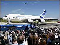 Airbus A380 after landing in Toulouse