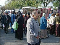 Saturday market in Venissieux
