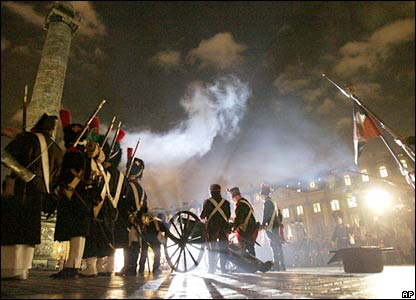 The commemoration of the 1805 Austerlitz battle in central Paris