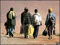 Illegal migrants in Morocco