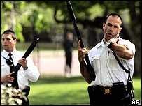 Armed White House guards