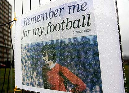 A George Best poster in Belfast