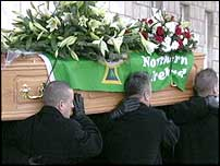 The funeral took place in the Great Hall at Stormont