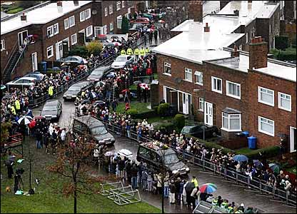 Thousands of fans are on the streets of Belfast to pay their respects to George Best