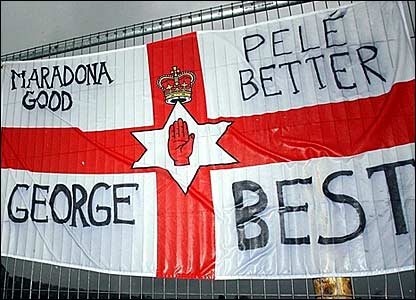 A flag on the Cregagh estate in Belfast