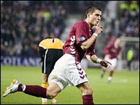 Rudi Skacel celebrates his first goal