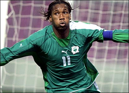 Didier Drogba is used to scoring on the big stage for Chelsea and will hope to repeat these feats with Ivory Coast