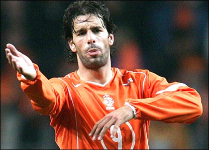 Holland striker Ruud van Nistelrooy will be looking to do all his damage in the opposition's penalty area in Germany