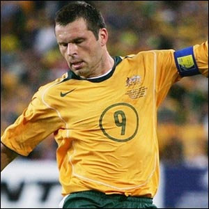 The powerful Australian captain Mark Viduka will be hoping to translate his Premiership goals record into World Cup strikes