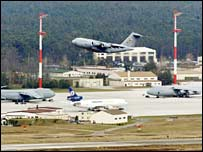 US airbase at Ramstein, Germany. File photo