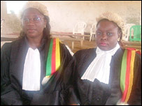Vera Ngassa, the State Prosecutor, and Beatrice Ntuba, the judge in the magistrate's court